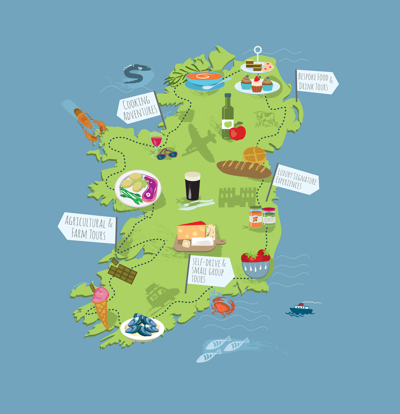 Touring map Ireland Karen Nolan – Tourist Map Of Ireland